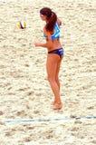 Volleyball 2015 de plage de tournoi de claquement de glande de Moscou H Image libre de droits
