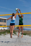 Volleyball de sable Photographie stock