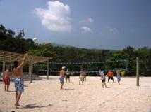Volleyball in den Karibischen Meeren Stockbild