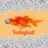Volleyball design. Volleyball digital design, vector illustration 10 eps graphic Stock Photography