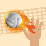 Volleyball design. Volleyball digital design, vector illustration 10 eps graphic Stock Photos