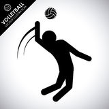 Volleyball design Stock Photos
