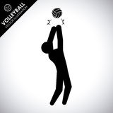 Volleyball design Stock Image