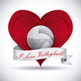 Volleyball design Royalty Free Stock Image