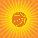 Volleyball design over sunburst background vector Stock Photography