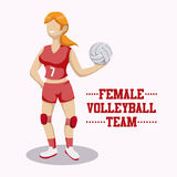 Volleyball design Royalty Free Stock Photos