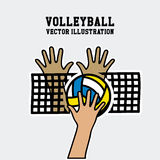 Volleyball design Royalty Free Stock Photography