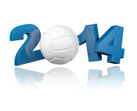 Volleyball 2014 design Stock Photography