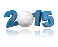 Volleyball 2015 design. With a White Background Royalty Free Stock Photos