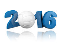 Volleyball 2016 design Stock Images