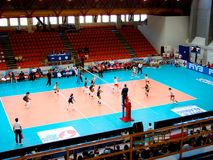 Volleyball: Dominikanische Republik gegen Polen Lizenzfreies Stockfoto