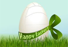 Volleyball Easter egg Stock Photography