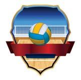 Volleyball-Emblem-Ausweis-Illustration Stockfotografie