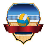 Volleyball Emblem Badge Illustration Stock Photography