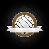 Volleyball emblem. Emblem for the volleyball with ribbon for your text Royalty Free Stock Photos