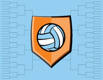 Volleyball Emblem and Tournament Background Royalty Free Stock Photos