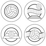 Volleyball Emblems Royalty Free Stock Photos