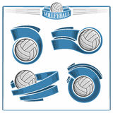 Volleyball emblems Stock Photo