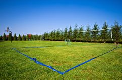 Volleyball field in backyard Royalty Free Stock Image
