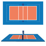 Volleyball Field  Isolated On White Background. Vector Volleyball Field  Isolated On White Background Stock Photos
