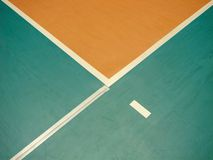 Volleyball field and lines Stock Image