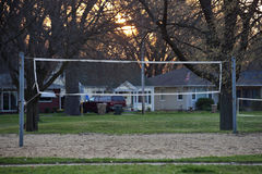 Volleyball field in the park Royalty Free Stock Photo