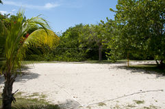 Volleyball Field on Sand - Cuba. Volleyball Field on Sand in Cuba Royalty Free Stock Photos