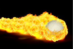 Volleyball fire Royalty Free Stock Image