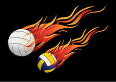Volleyball fire Stock Photography