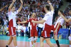 Volleyball FIVB Polen Brasilien Stockbild