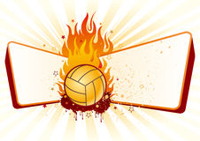 Volleyball with flames Royalty Free Stock Photography