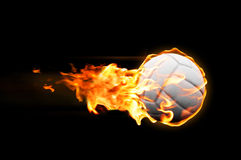 Volleyball flames Royalty Free Stock Images