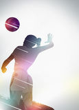 Volleyball flat design background Royalty Free Stock Photography
