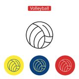 Volleyball flat fit icons. Sport ball games symbols in colorful circle for mobile and web applications infographics print media vector illustration. Isolated Stock Photos