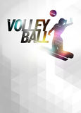Volleyball flat polygon background Royalty Free Stock Images