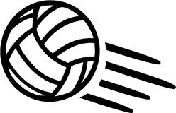 Volleyball Flying Royalty Free Stock Images