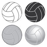Volleyball Four Ways Stock Photo