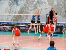 Volleyball: Frankrijk tegen Rusland Stock Foto's