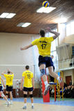 Volleyball game between Dnipro and Kakgani. Ukrainian championship. Stock Photo