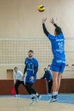 Volleyball game dnipro vs kazhani ukrainian super league men Royalty Free Stock Photos