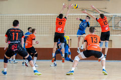 Volleyball game dnipro vs kazhani ukrainian super league men Stock Images