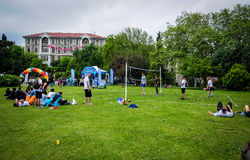 Volleyball Game On Sports Festival royalty free stock image