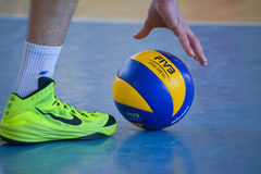 Volleyball game. Ukrainian championship Stock Images