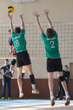 Volleyball game. Ukrainian championship Royalty Free Stock Photos