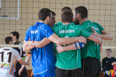 Volleyball game. Ukrainian championship Stock Photos