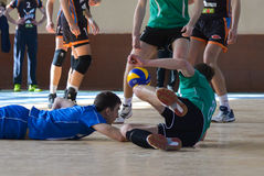 Volleyball game. Ukrainian championship Royalty Free Stock Photography