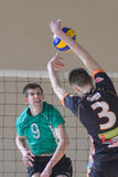 Volleyball game. Ukrainian championship Royalty Free Stock Image