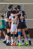 Volleyball game. Ukrainian championship Stock Photography