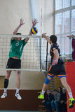 Volleyball game. Ukrainian championship Stock Image