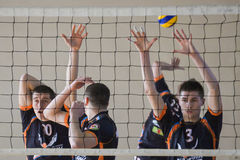 Volleyball game. Ukrainian championship Stock Photo